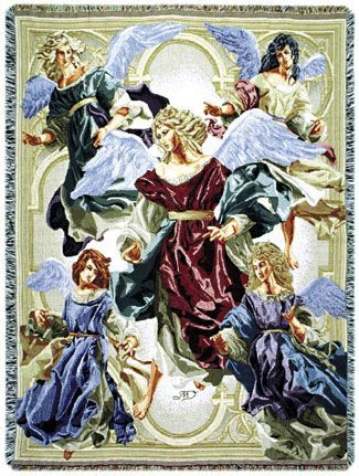 Angels of Hope Tapestry Throw