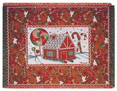 Christmas Cookie Tapestry Throw