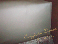 600 thread count Pima cotton fitted sheet