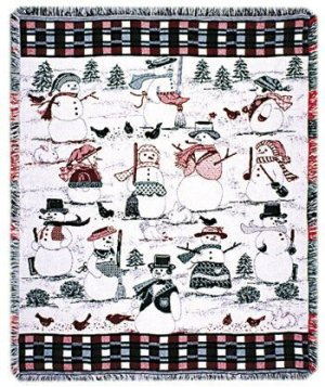 Frosty Friends Tapestry Throw