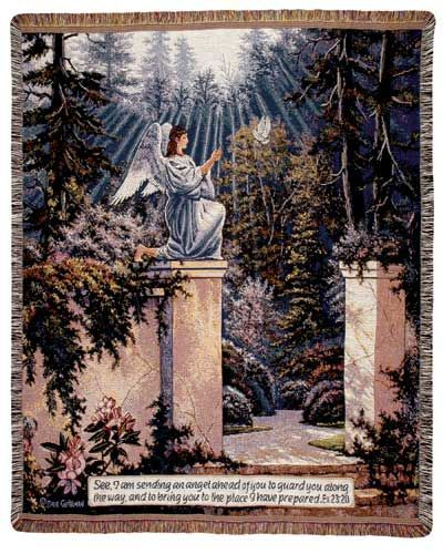 Garden Angel Tapestry Throw