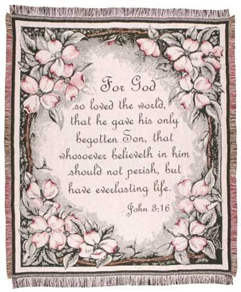 John 3:16 Tapestry Throw