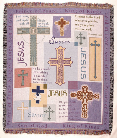 Multiple Crosses Tapestry Throw